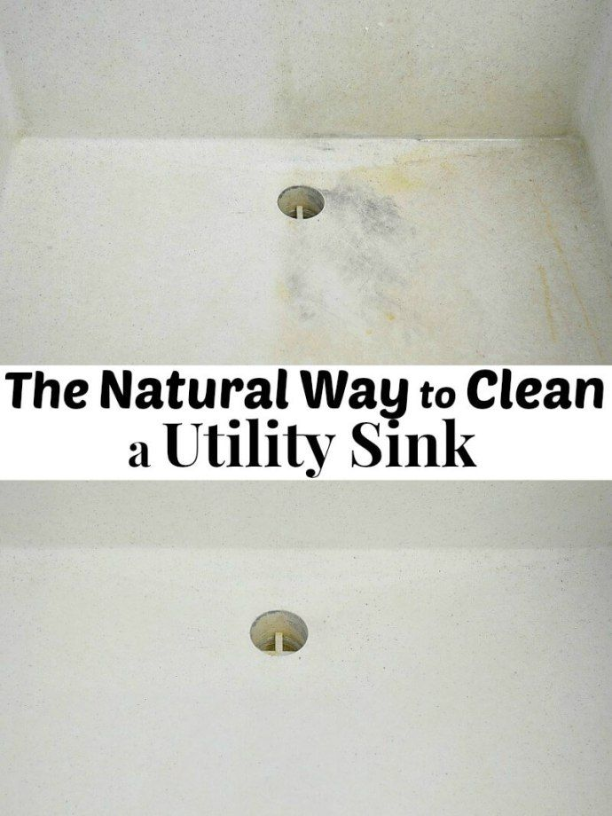 The Natural Way To Clean A Utility Sink With Images Utility