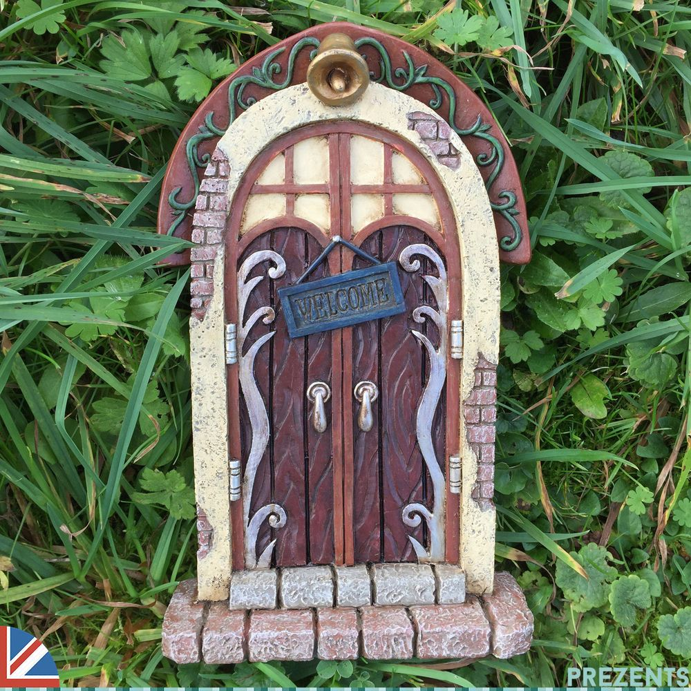 LARGE Garden Fairy Door Elf Pixie Garden Ornament Outdoor Home Christmas 39151 is part of Home garden Fairy Doors -