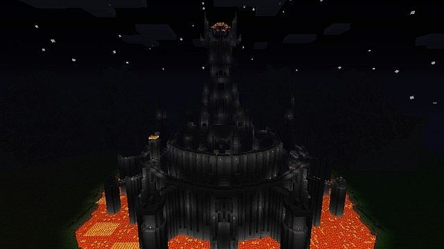 Minecraft Middle Earth Barad Dur Minecraft Project