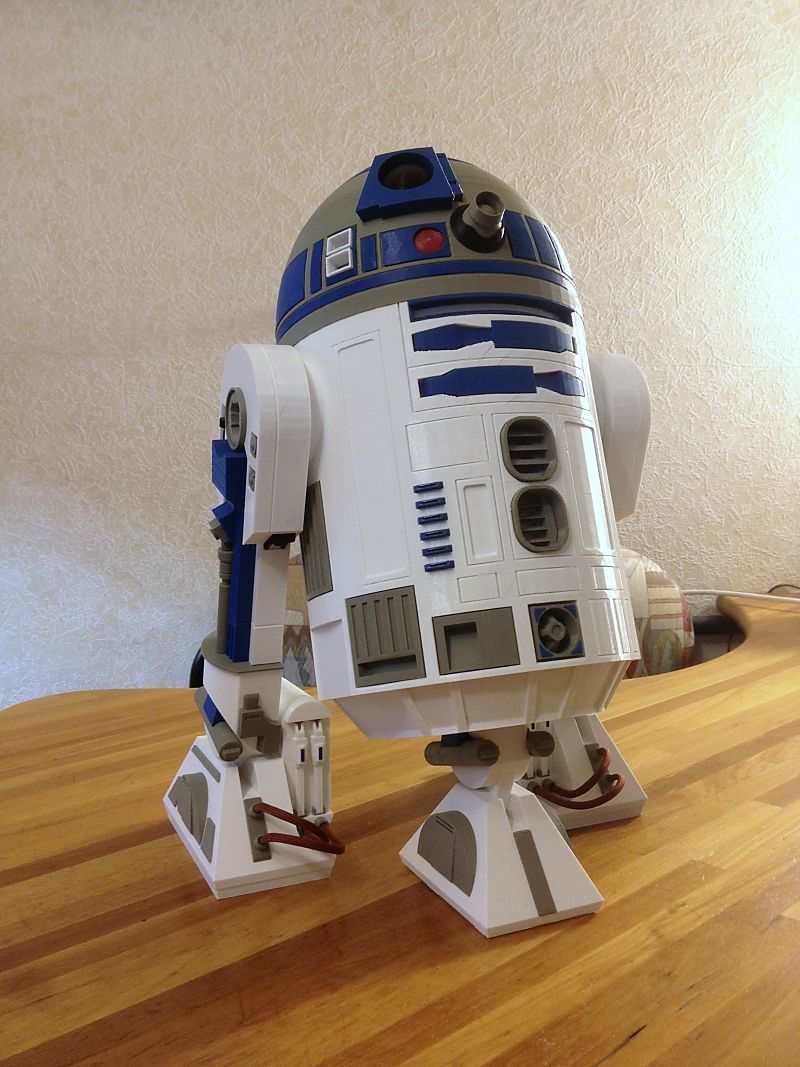 r2 d2 with dimensions 25x25x40 cm printed by knickohr original rh pinterest com