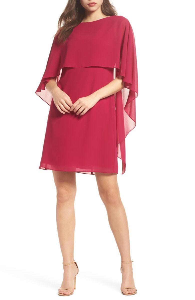 Vince Camuto Chiffon Cape Cocktail Dress Nordstrom Trendy Cocktail Dresses Dresses Women Clothes Sale [ 1196 x 780 Pixel ]