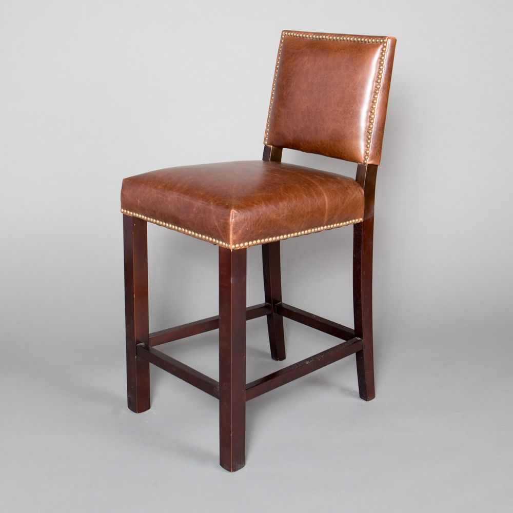 Counter Stools Overstock: Winston Leather Counter Stool