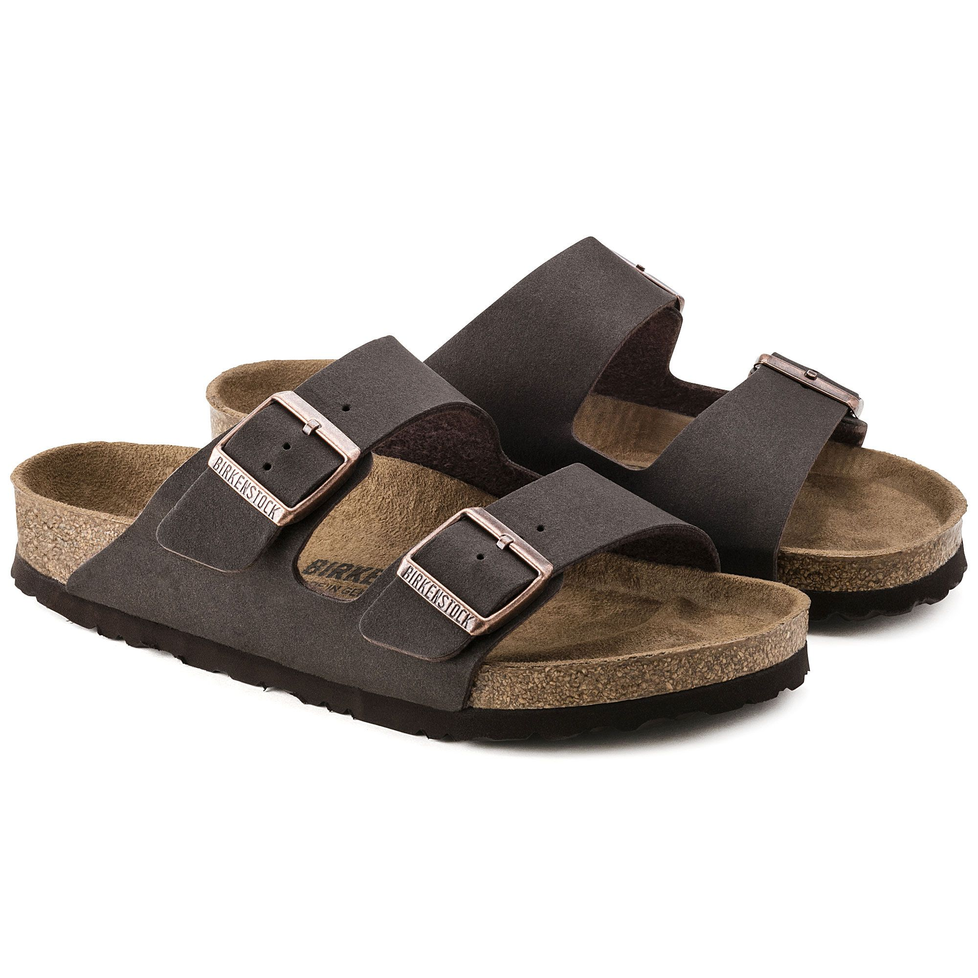 9135882e2bf Arizona Cocoa Brown Microfiber Vegan Birkenstock