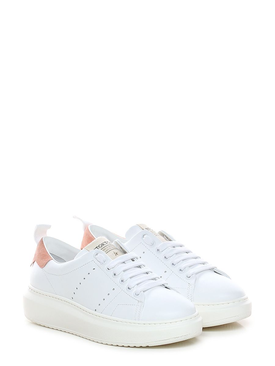c0aa2c07fe ... Le Follie Shop. Sneaker in pelle ed inserto camoscio con suola in gomma  light. tacco 45, platform
