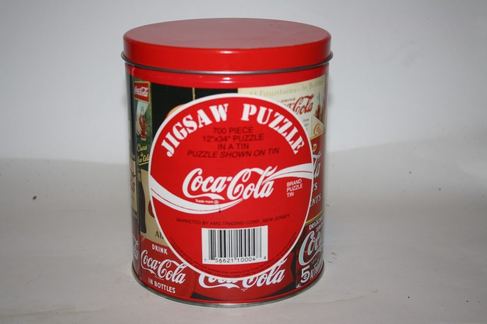 New Coca Cola 700 Piece Jigsaw Puzzle In A Can 12 X 34 Puzzle Is Image On Can Cocacola Coca Cola Cola Coca