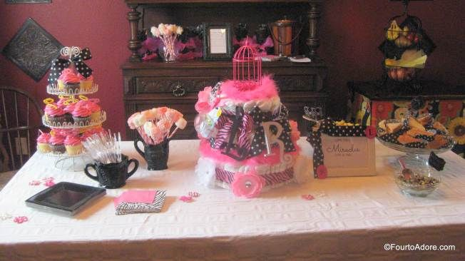 Baby shower for twin girls