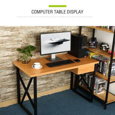 icoco desktop computer desk l aptop pc table with drawer household rh pinterest ca