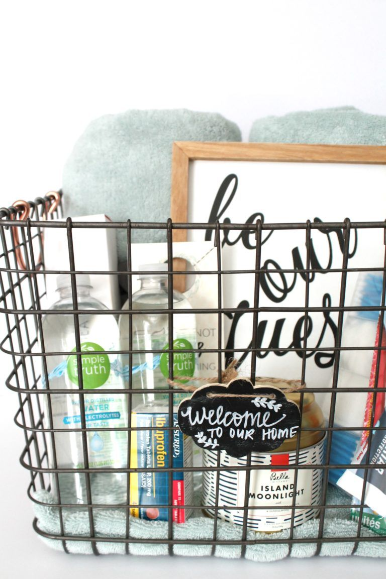 guest room welcome basket free printable bit of pampering rh pinterest com