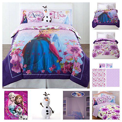 Disney Frozen Celebrate Love 8 Piece Bed In A Bag Full Size Bedding Set Reversible Comforter
