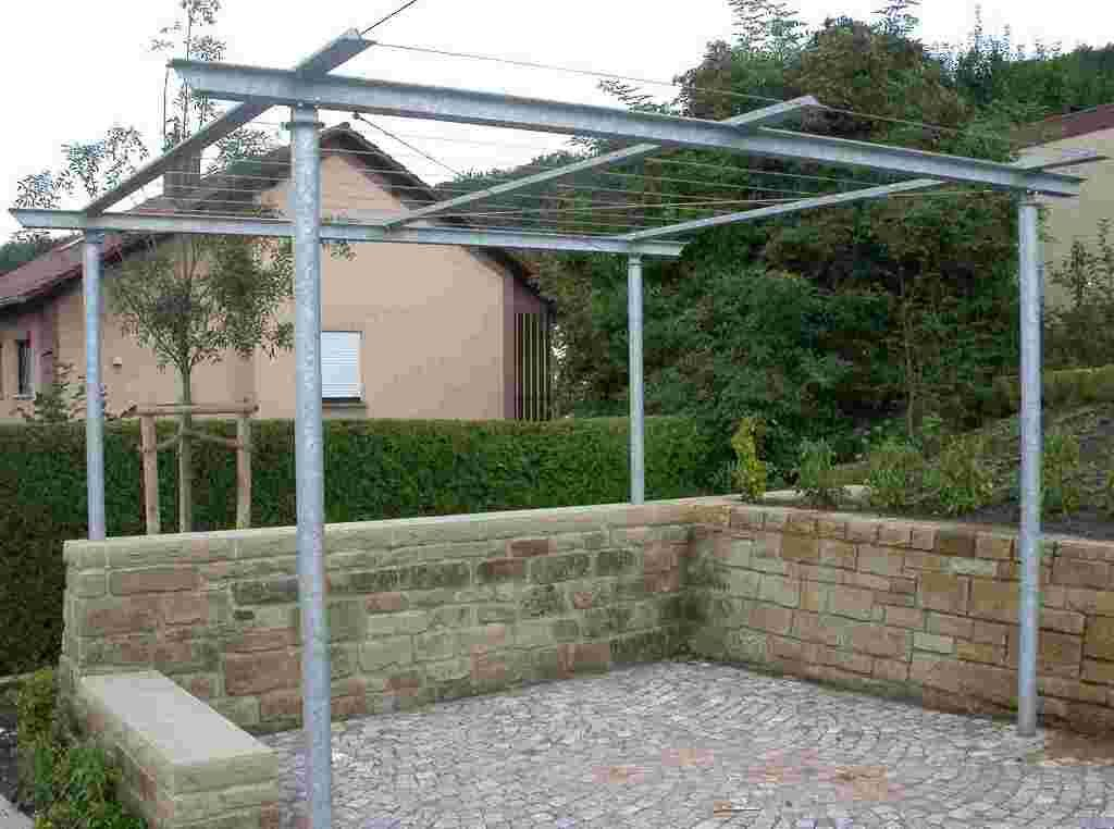 Image Result For Simple Steel Pergola Entertainment