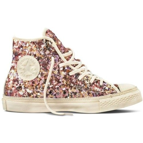 c5e72cbc8755 Champagne Sequin Converse Sneaker