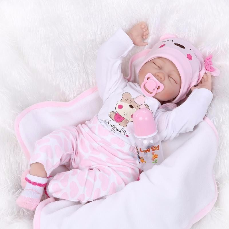 Reborn Toddler Baby 22/'/' Handmade Soft Vinyl Girl Newborn Realistic Lifelike New