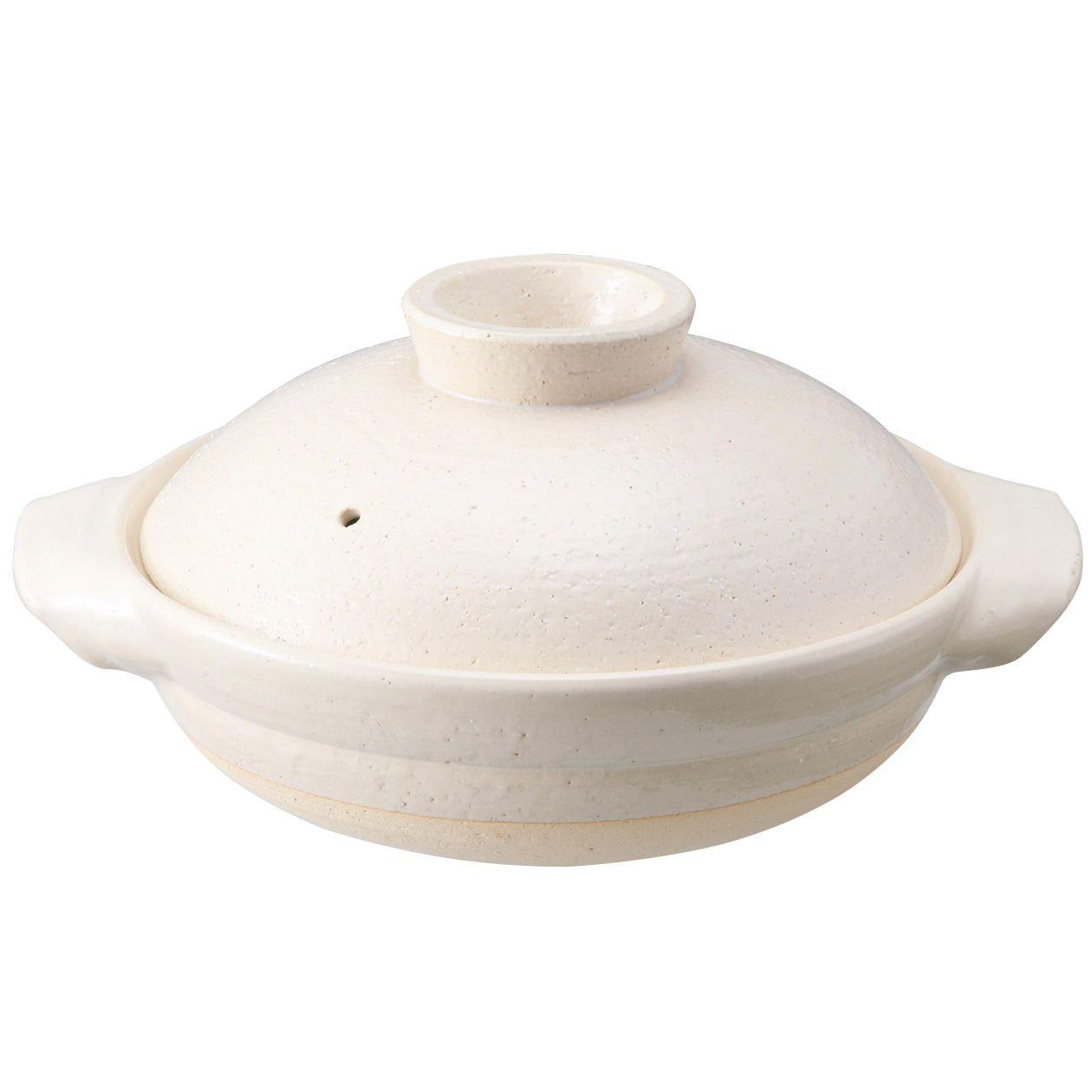 伊賀焼土鍋・白釉 3~5人用/約2500ml | 無印