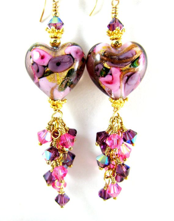 Hey, I found this really awesome Etsy listing at https://www.etsy.com/listing/262948824/heart-pink-purple-crystal-dangle