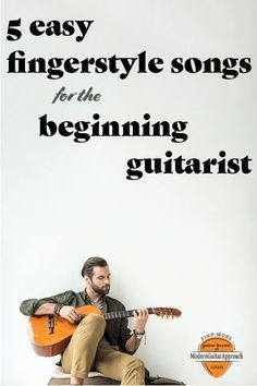 These 5 easy guitar fingerstyle songs are fun to play and perfect to perform for others. In this lesson, you will learn some great guitar arrangements of classic songs.  Songs like Blackbird & Here Comes The Sun from the Beatles, Happy Birthday, Bookends and A Soalin'.  These arrangements are taught in the order I teach them to my own guitar students and will help you learn how to play fingerstyle guitar.  Modern Guitar Approach.  #learnguitar