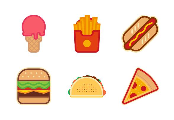 Street Food Icons By Evoria Studio Food Icons Street Food Food