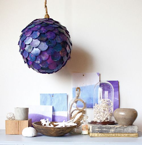 Diy Project Fish Scale Pendant Lamp Paper Lanterns Diy Fish
