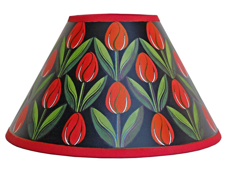 Lampshade Painting Kits Lampshade Painting Kit Red Tulips Lamp Shade Painting Lamp Shades Red Tulips