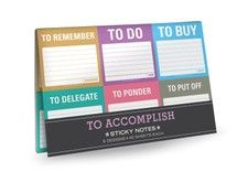 To Accomplish Sticky Note Packet - <3 all the sticky notes in this store, some really funny ones for the dudes too.