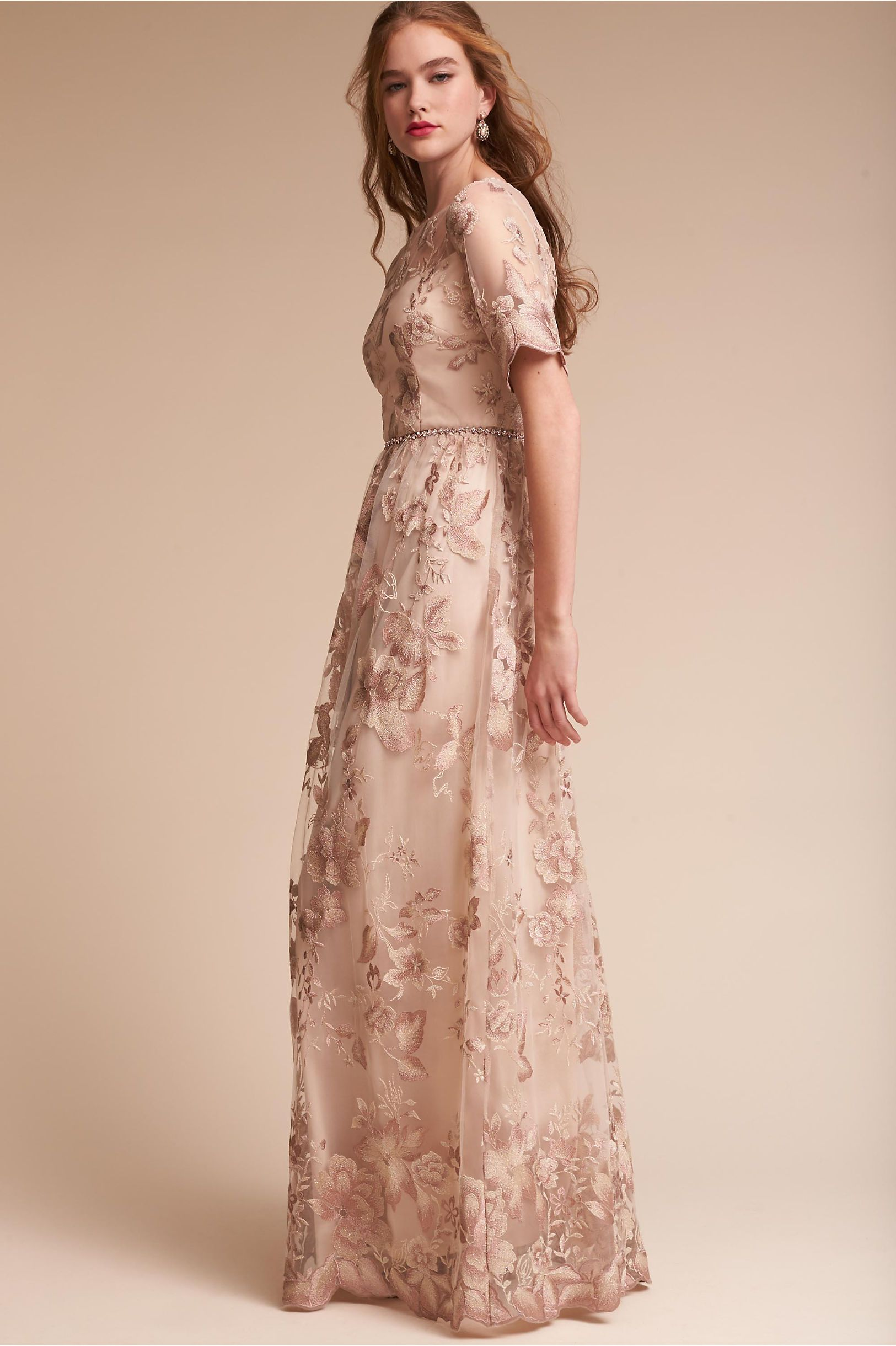 Pinterest flapper wedding dresses 1920s style and adrianna papell - Bhldn S Adrianna Papell Guilia Dress In Rose Quartz