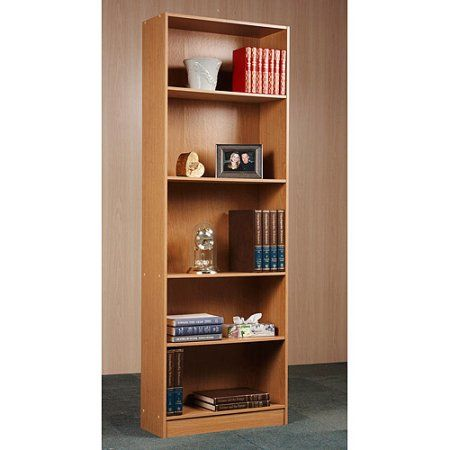 Orion 5 Shelf Bookcase Multiple Finishes Dimensions 245W X 10D 72H