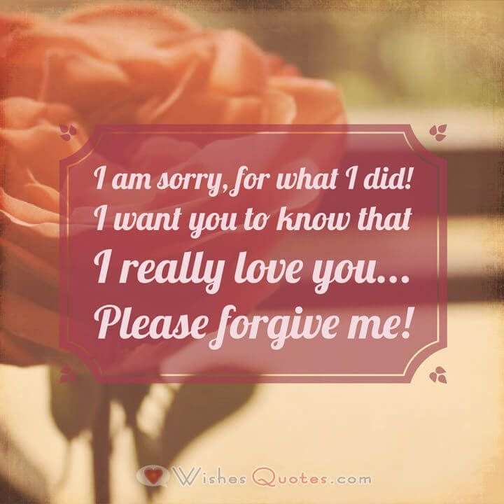 Sorry Messages for your Husband