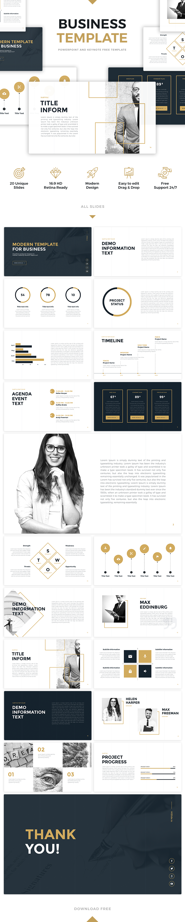 Free download artbusiness template for powerpoint or keynotes free download artbusiness template for powerpoint or keynotes 20 unique slides toneelgroepblik Gallery