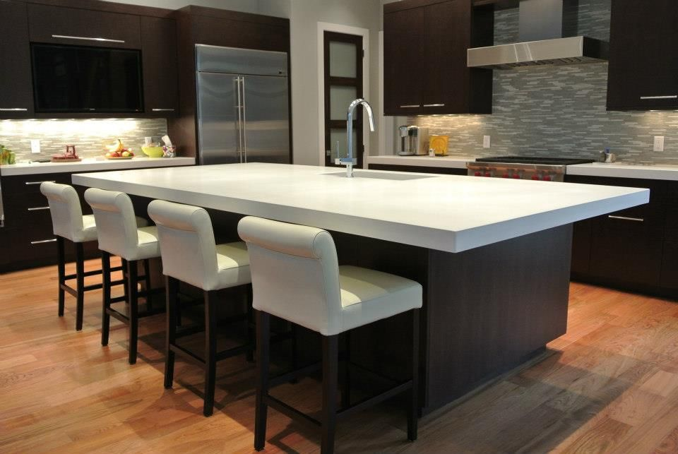 my current project black cabinets and white concrete countertops rh pinterest com