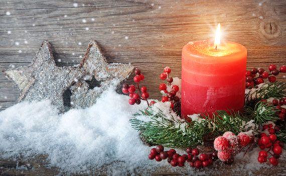 Candele natalizie, idee semplici per decorere la casa | La seconda casa non si scorda mai
