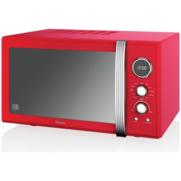 Swan Sm22080rn Combination Microwave Red At Argos Co Uk Visit To Online For Microwaves Kitchen Electricals Home And Garden