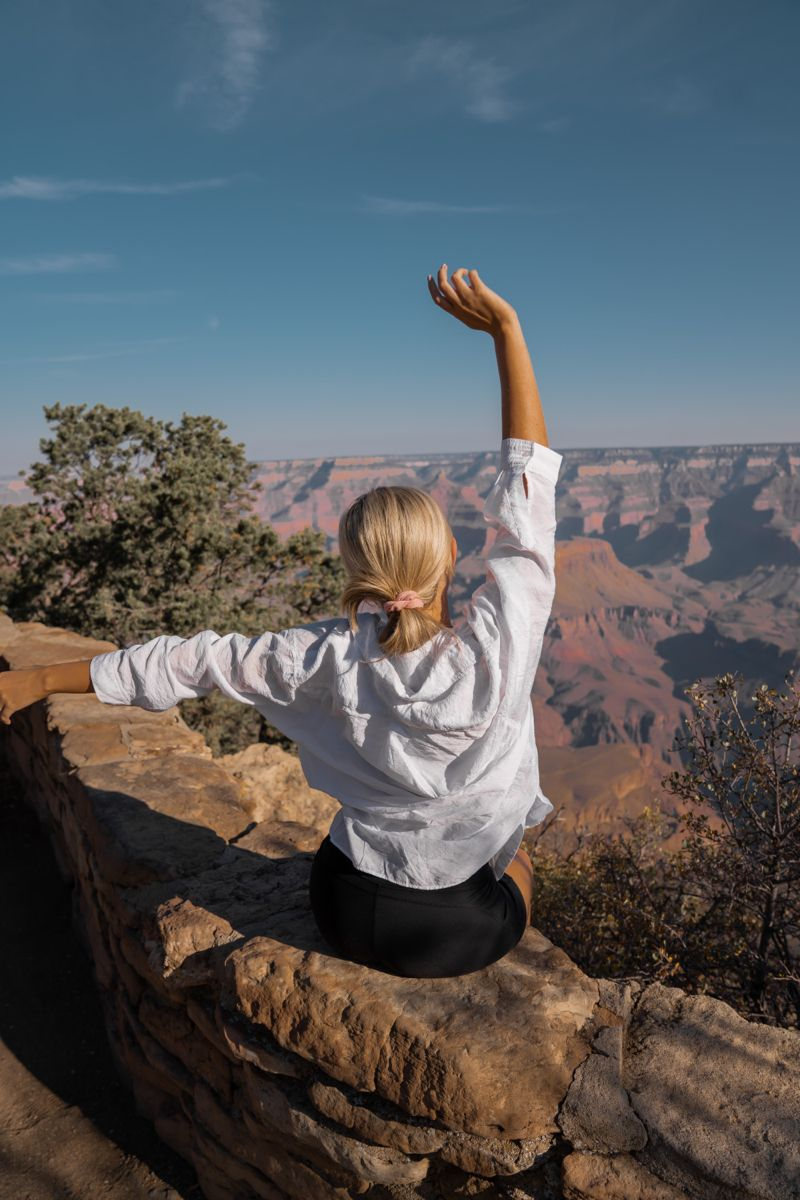 Grand Canyon South Rim travel guide! How to get around the canyon and photo inspo. #canyon #arizona #travelinspo #ustraveldestinations