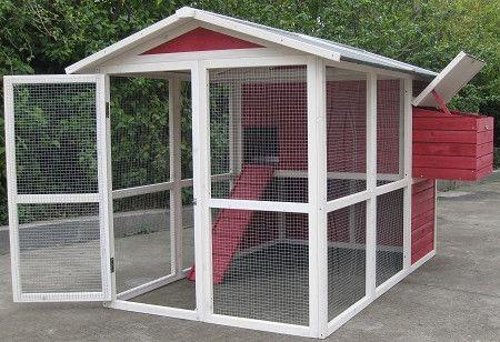 coops feathers medium hen house vintage red 76 x 50 x 50 item rh pinterest com
