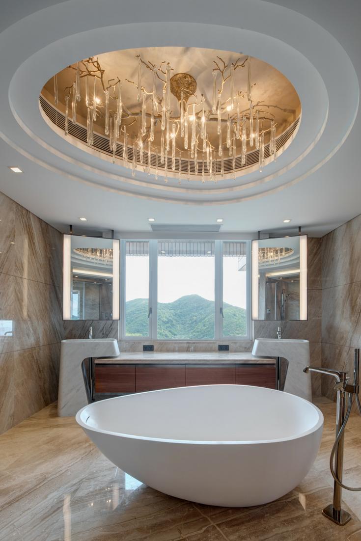 Hong Kong Parkview Bespoke Bathtub By Claybrook Interiors