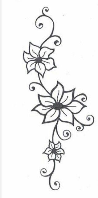 Simple Flower Tattoo Henna Design Henna Ideas Tattoos Vine