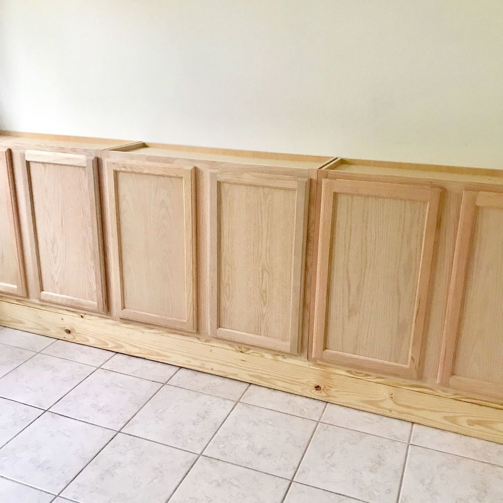 how to build in wall cabinet using stock kitchen cabinets diy in rh pinterest com