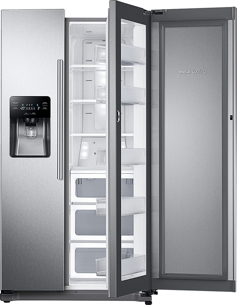 Samsung 24 7 Cu Ft Food Showcase Side By Side Refrigerator