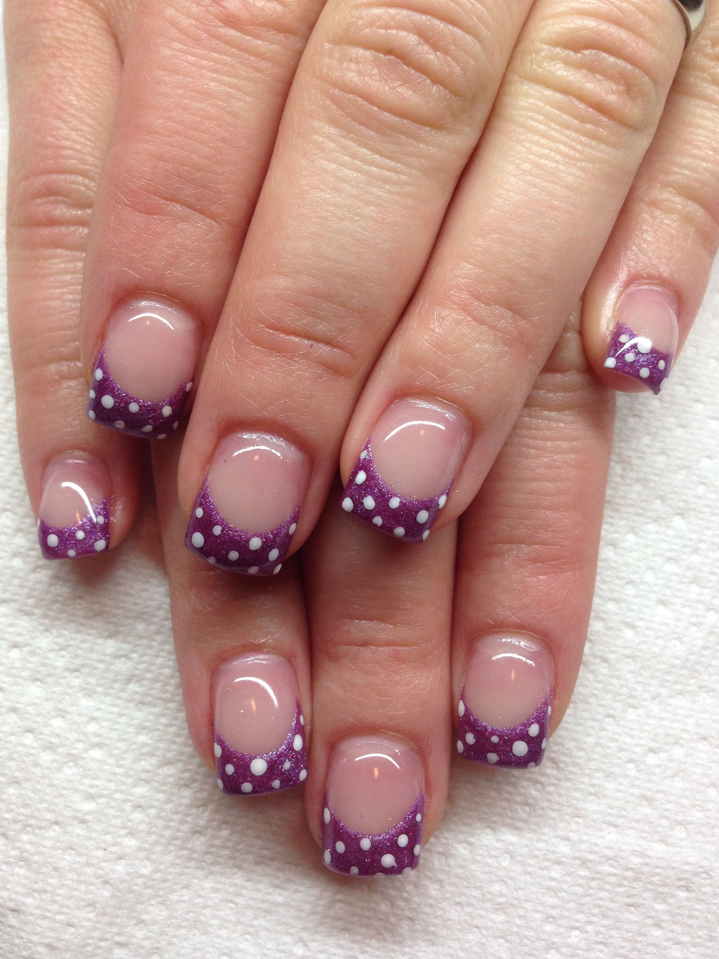 Gel nails with hand drawn design using gel By Melissa Fox | Nail Art ...