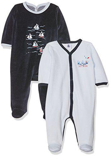 B/éb/é gar/çon Lot de 2 Petit Bateau Pyjama
