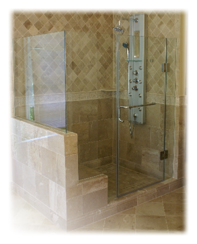 Frameless Glass Shower Enclosure And Tile Work Glass Shower