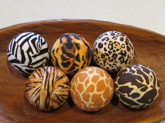 Decorative Balls For Bowls Beauteous African Safari Decorative Fabric Rag Balls Fabric Chotchkies Review