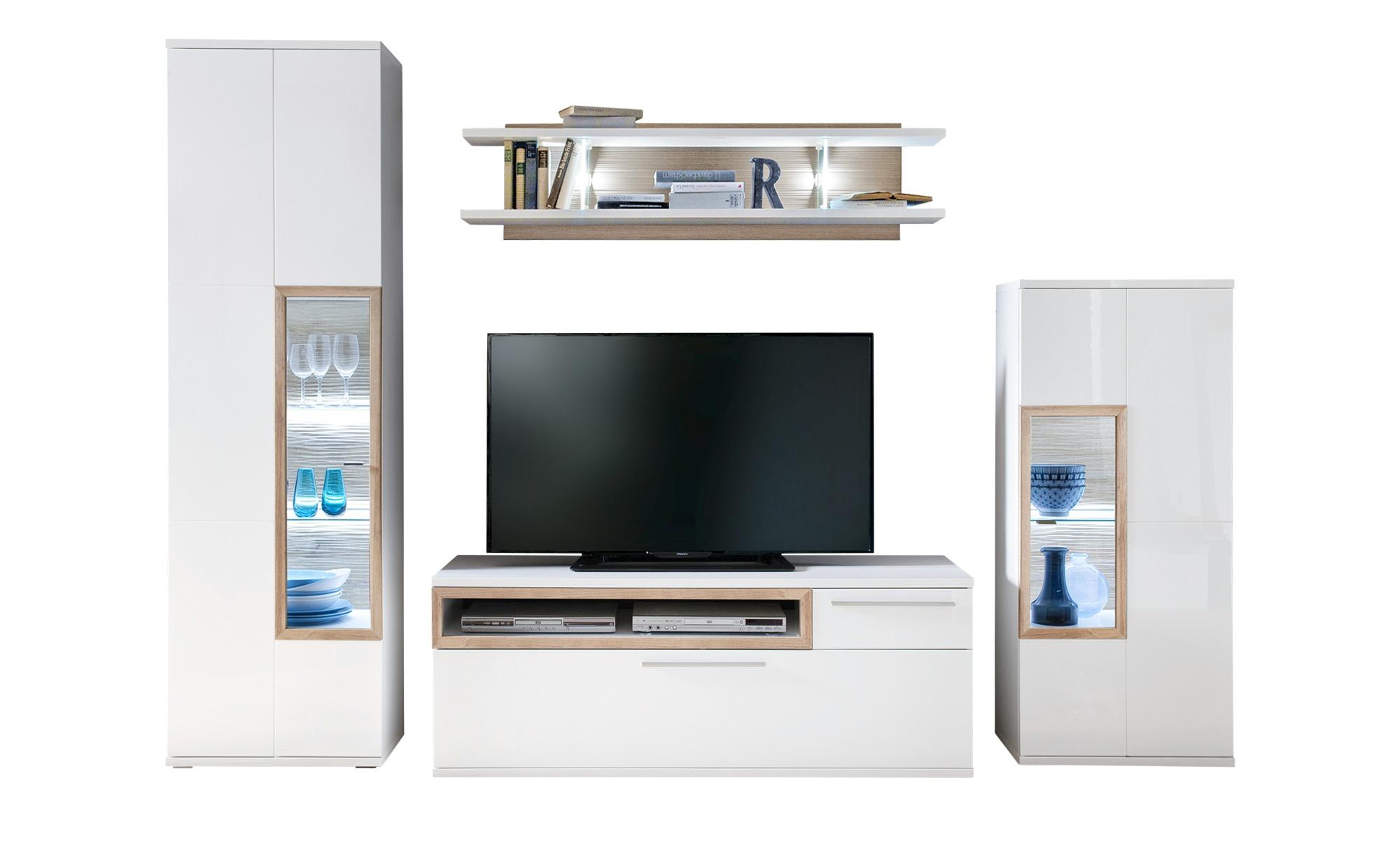 Wohnzimmermobel Massiv Modern Fernsehschrank Eiche Geolt