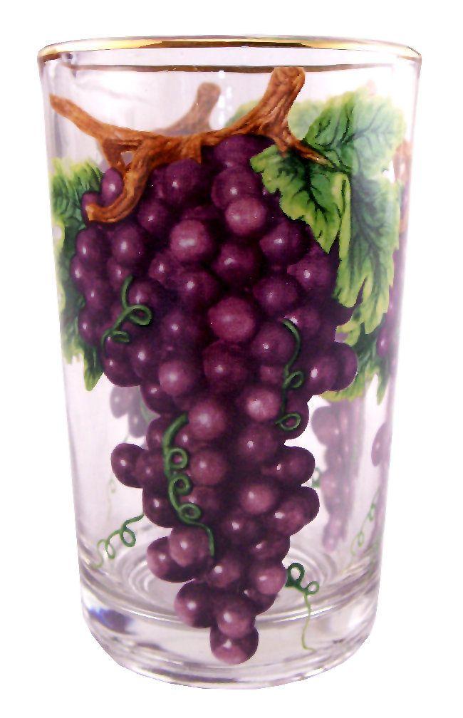 Grape Decorations Pitcher With Glasses 7pc Set Grape Decor