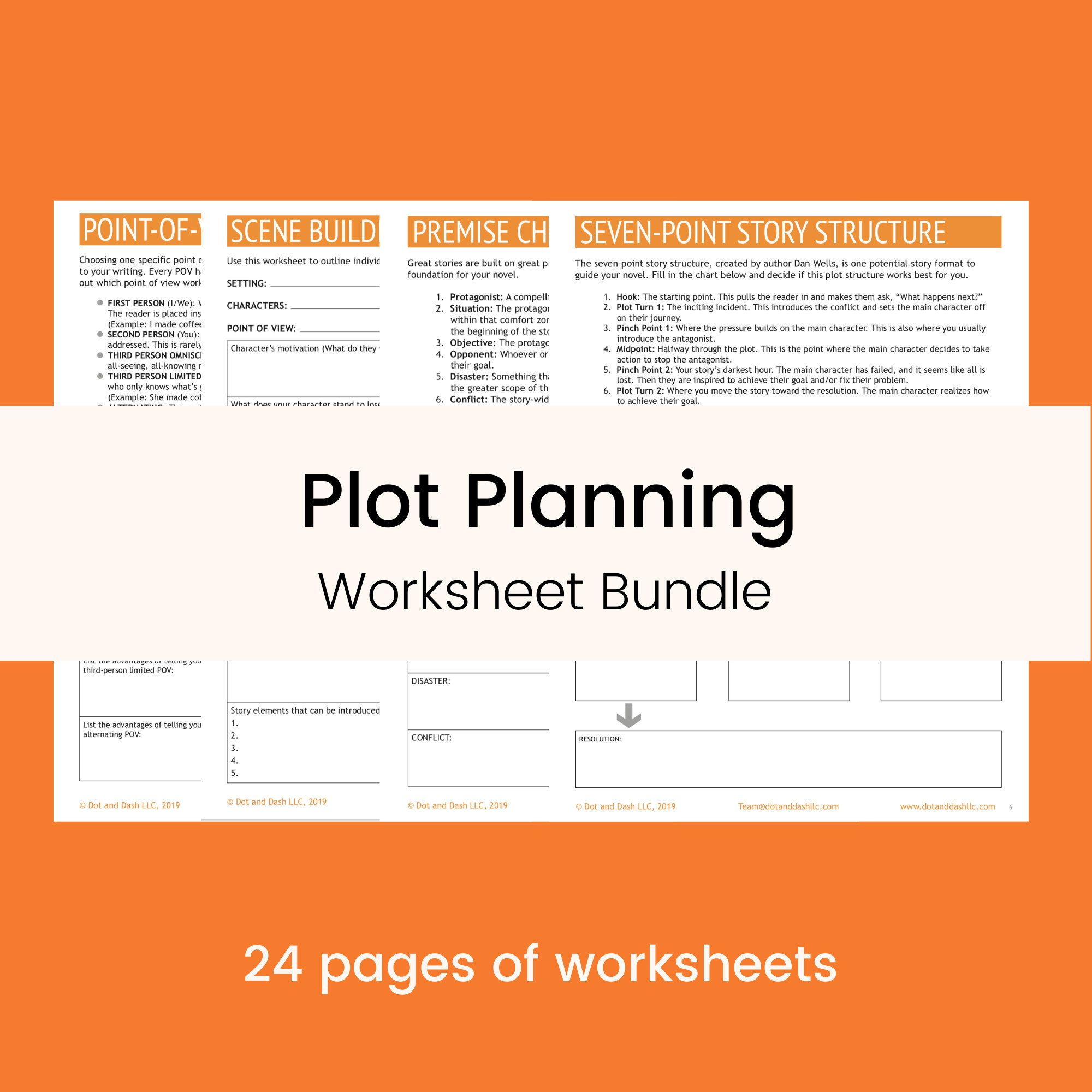 Plot Planning Worksheet Bundle