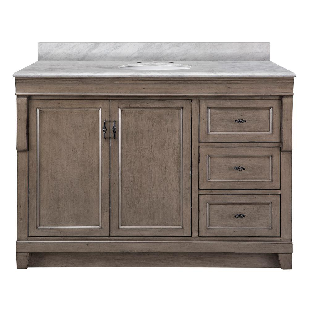 Foremost Naples 49 In W X 22 In D Vanity In Distressed