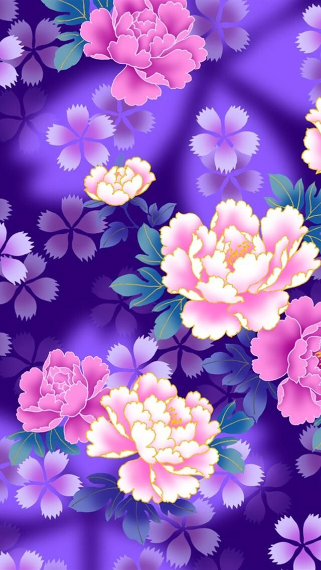 Pink And Purple Flowers Flower Wallpaper Cellphone Wallpaper Flower Backgrounds