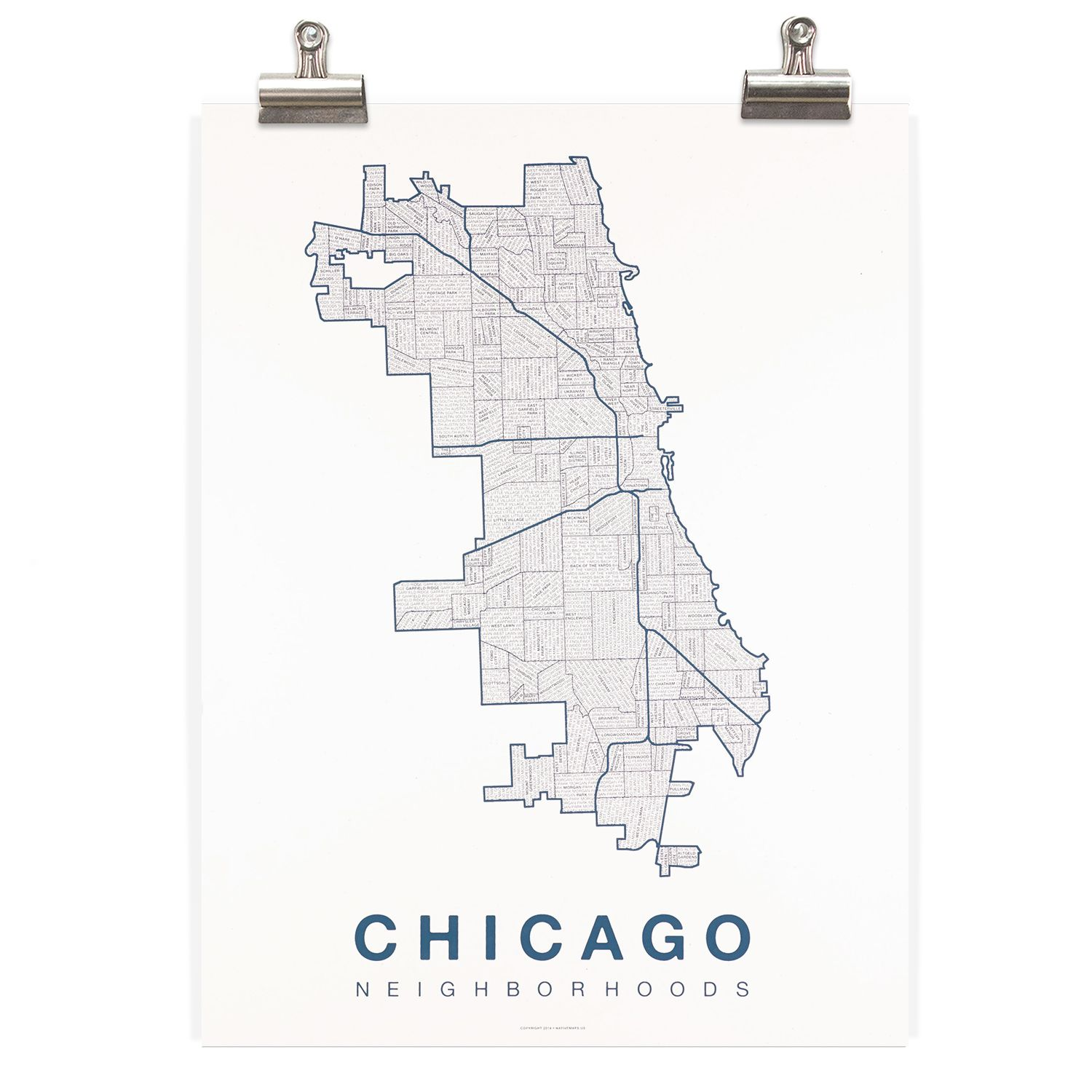 Pin by Mara Greenwald on • posters and prints • | Chicago ... Chicago Outline Map on