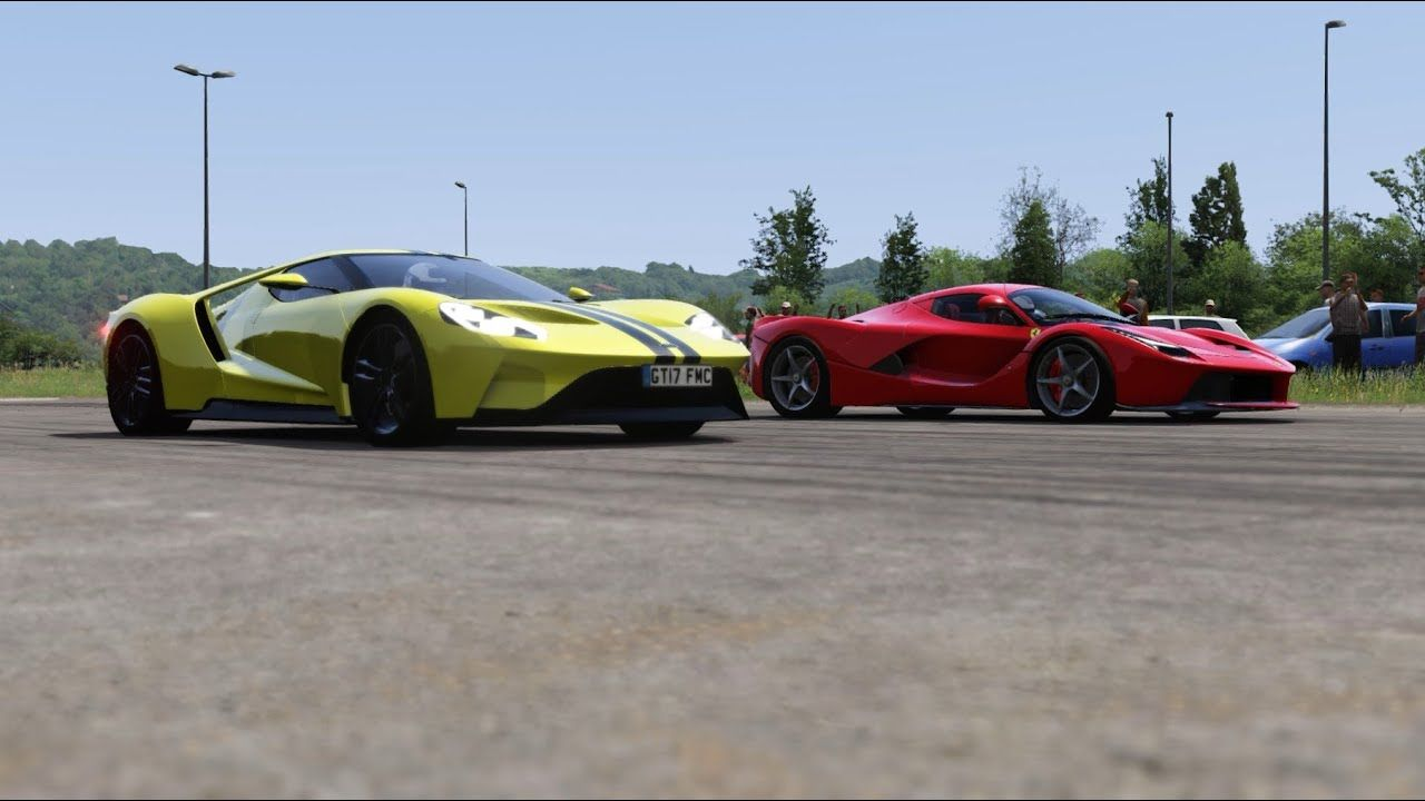 Ford Gt Vs Ferrari Laferrari Drag Race At Miseluk In 2020 Ferrari Laferrari Ford Gt Ferrari