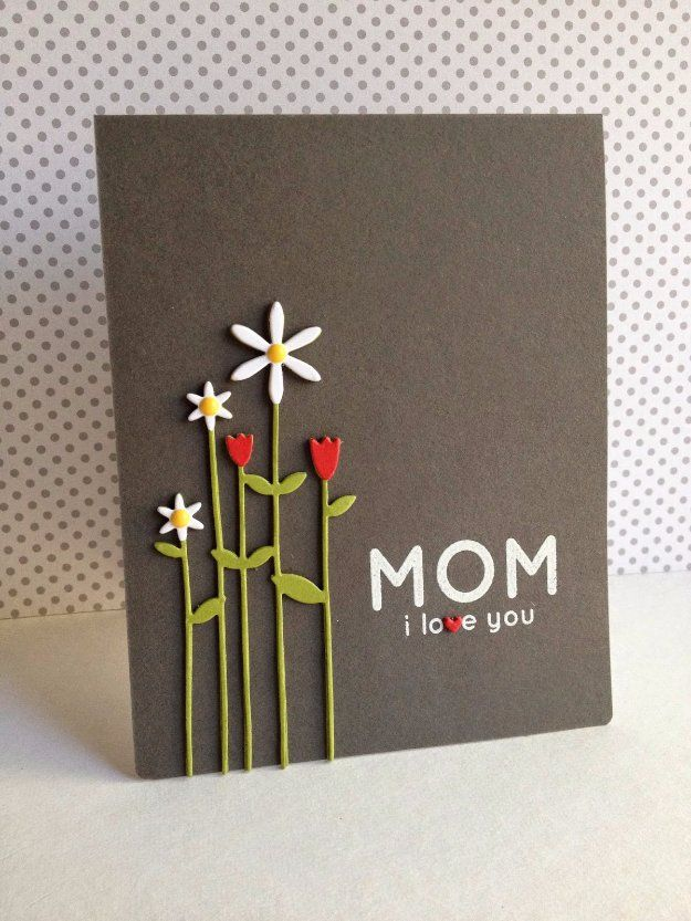 31 Diy Mother S Day Cards Tall Flowers Homemade Cards