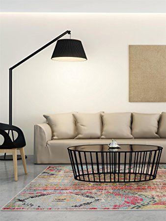 benuta Teppiche Moderner Designer Teppich Casa Türkis 240x340 cm - moderne wohnzimmer teppiche