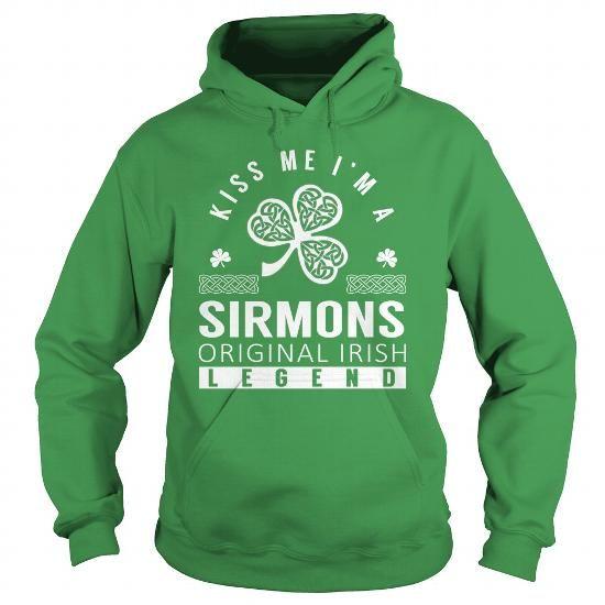 Awesome Tee Kiss Me SIRMONS Last Name, Surname T-Shirt T shirts